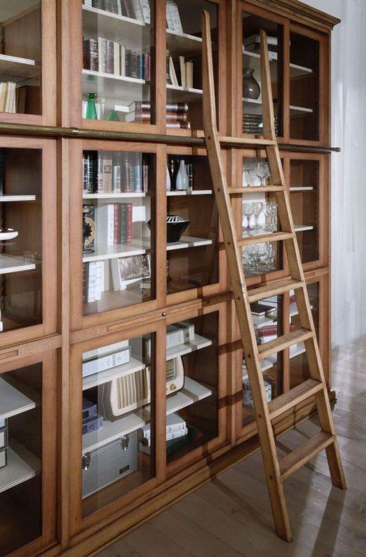 Libreria Ante Scorrevoli Vetro.Libreria A Spalla Componibile Bassan Art