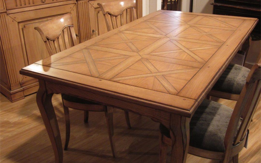 Tavolo rettangolare allungabile con 2 allunghe interne